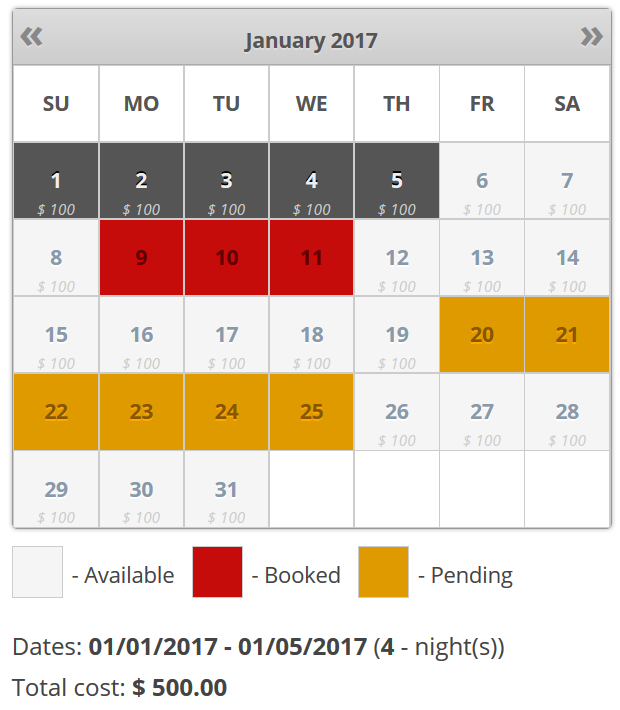 Booking Calendar - WordPress plugin, receive bookings easily