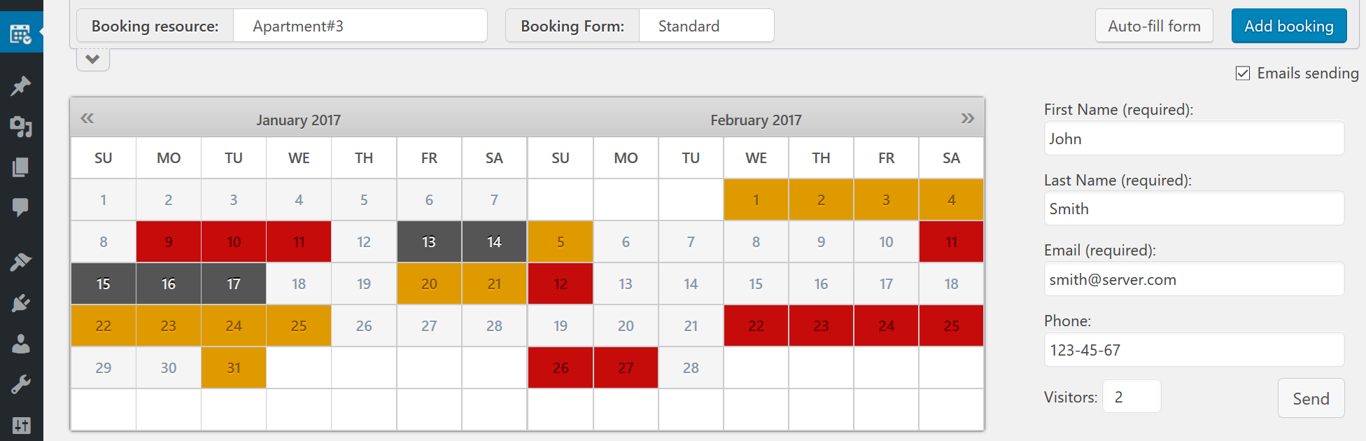 Calendar Booking Plugin Wordpress : Prices booking calendar wordpress plugin