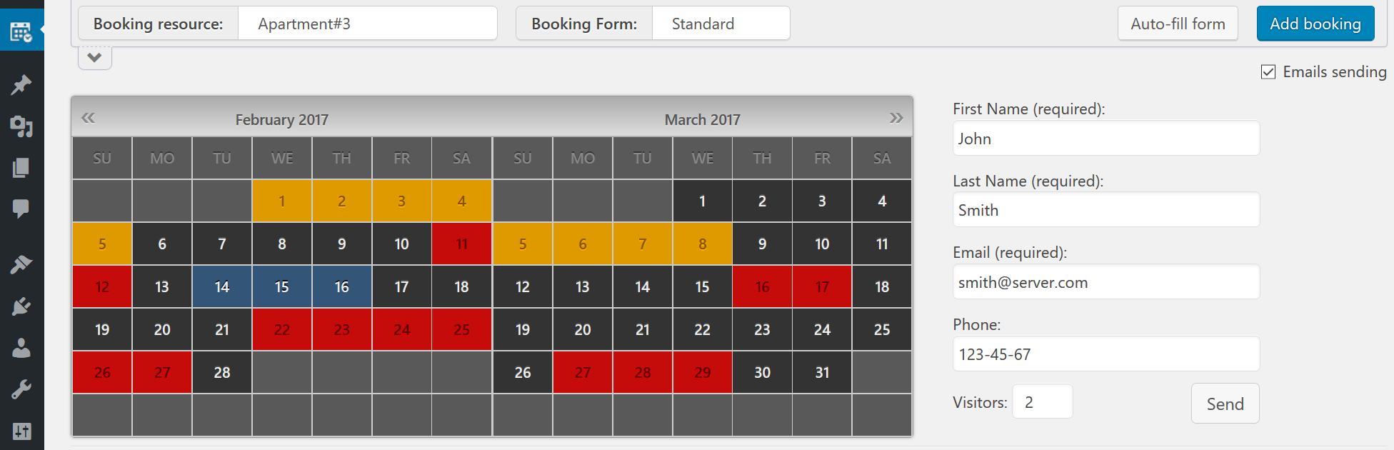 How long I can get free updates ? | Booking Calendar