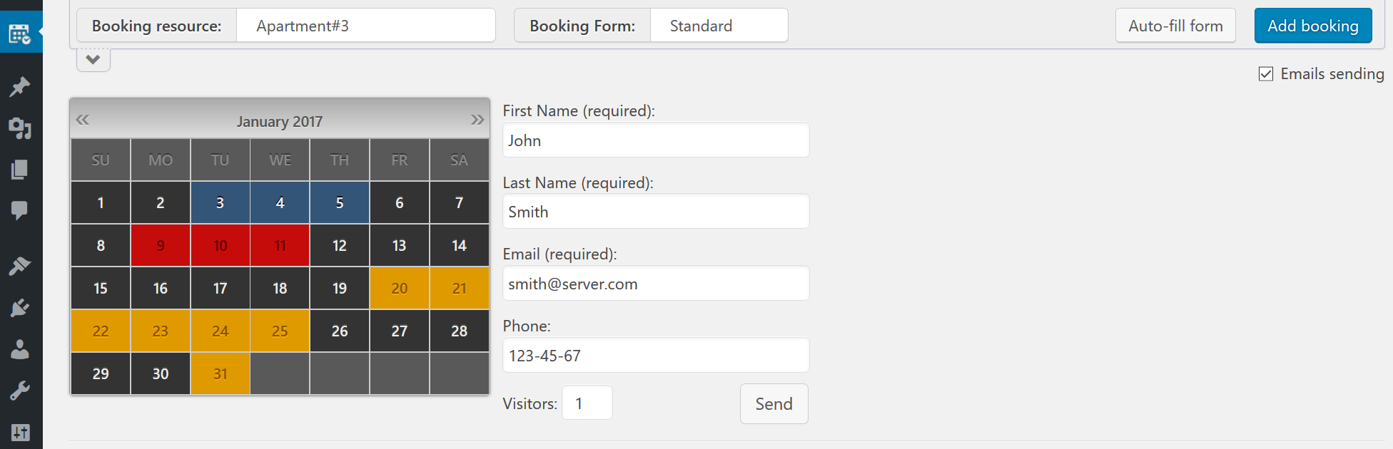 how to add a booking calendar to a website
