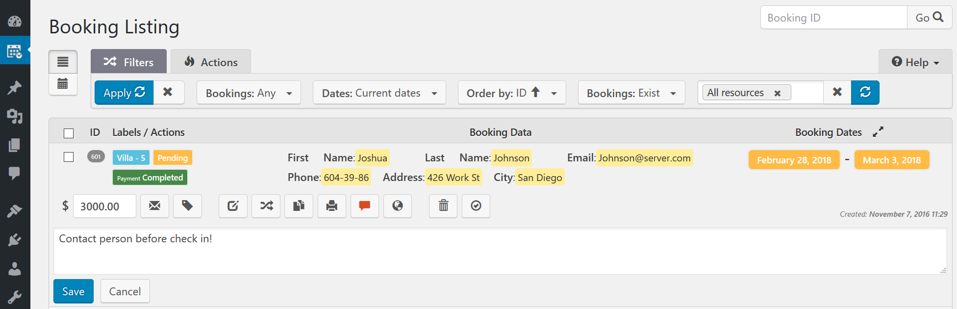 Add New booking page in admin panel (video tutorial