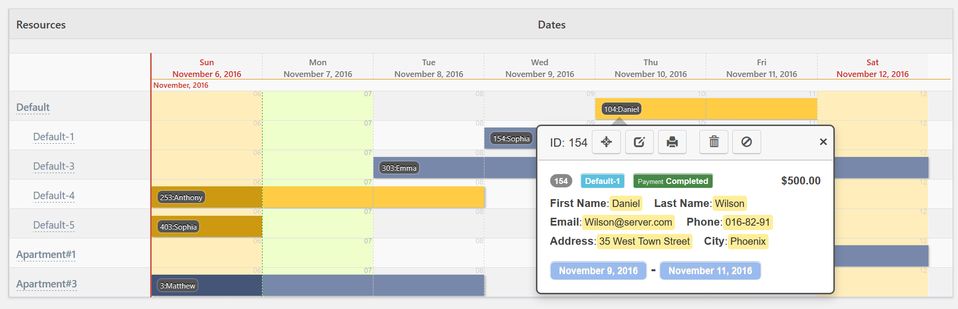 Booking Calendar – View and Manage user bookings | Booking