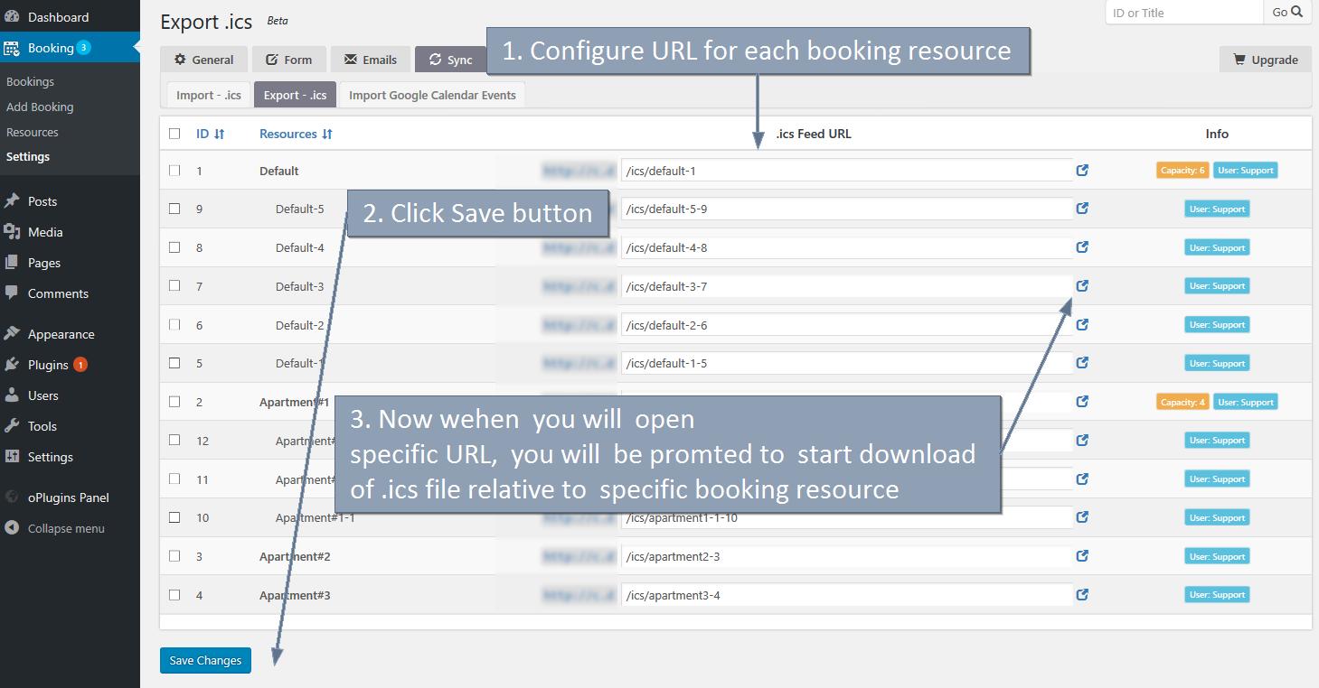 Sincronizzare Calendario Booking Con Airbnb.Sync Booking Calendar Wordpress Plugin