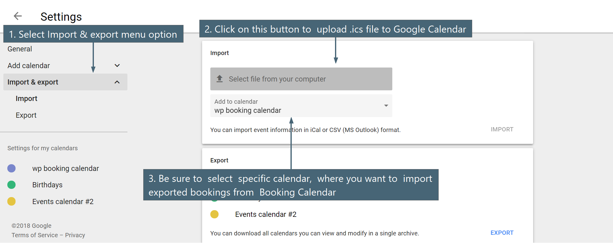 Esportare Calendario Airbnb.Sync Booking Calendar Wordpress Plugin