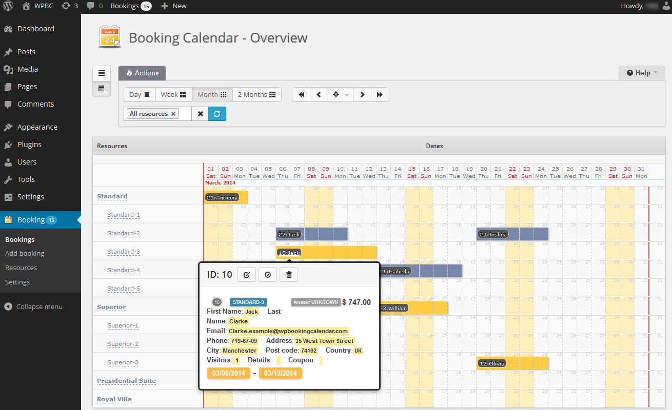 Calendar Booking : What s new wp booking calendar personal business small