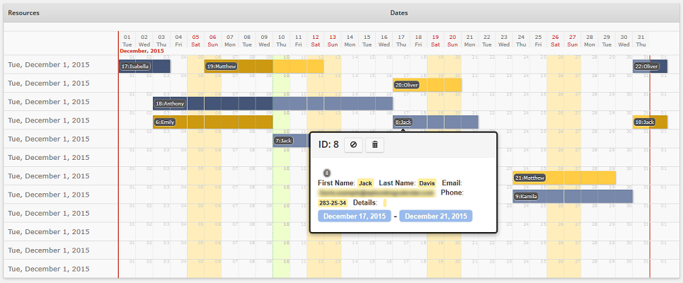 Calendar Overview : What s new in version update wp booking calendar