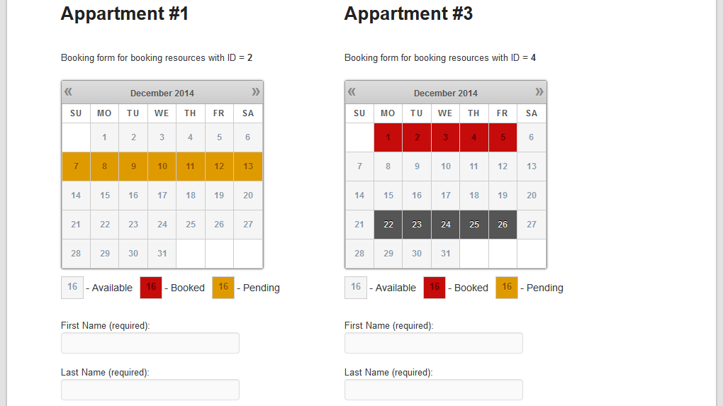Versions Overview | WP Booking Calendar Personal, Business Small ...