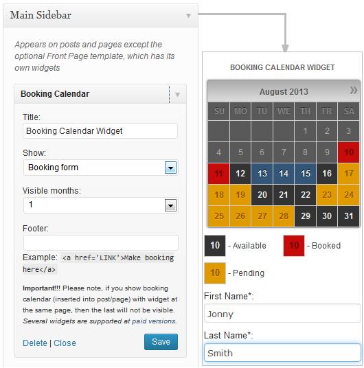 Calendar Booking Plugin Wordpress : Screenshots wp booking calendar personal business small