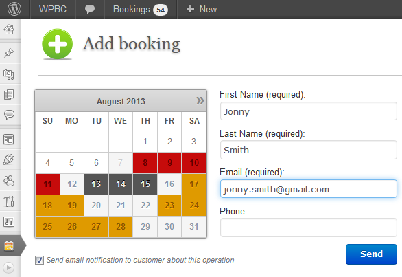 WordPress Meeting Room Booking Plugin